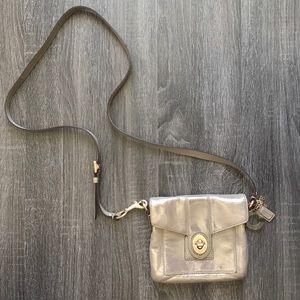 Coach Peyton Metallic Leather crossbody bag